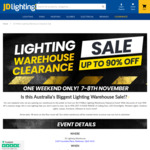 [QLD] Lighting Warehouse Clearance Sale - Up to 90% off (e.g. Brilliant Smart GU10 LED Bulb $8.99) @ JD Lighting
