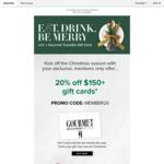 20% off $150+ Gift Cards @ Gourmet Traveller Restaurant Gift Card