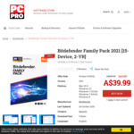 Bitdefender Family Pack 2021 [15-Device, 2-Years] A$29.99 @ PC Pro Magazine