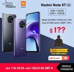 [Preorder] Xiaomi Redmi Note 9T 5G NFC 4GB 64GB US$208.20 (~A$269.11) Delivered @ Mi Global Store AliExpress