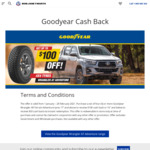 """$100 Cashback When You Purchase 4x Goodyear Wrangler All-Terrain Adventure Tyres 17"""" and above @ Bob Jane T-Marts"""