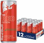 Red Bull Red Edition Energy Drink, Case of 12x 250ml, Watermelon $20 + Delivery ($0 with Prime/ $39 Spend) @ Amazon