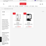Bistro Double Wall Glass Electric Water Kettle 1.1l $76.46 + 10% off on 1st Order Delivered @ BODUM