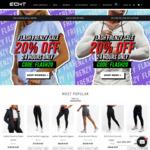 20% off Selected Clothing + Free Delivery @ ECHT