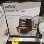 [ACT] Mistral 3.5L Air Fryer $24.50 (Was $49) @ Woolworths (Canberra Airport)