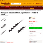 """Renegade Plant Auger Combo - 3""""X12"""" & 3""""X24"""" $29.90 + Shipping (Was $63.90) @ TradeTools"""