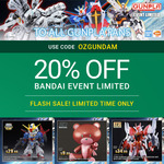 20% off ALL BANDAI Gundam Event Limited Kits + $12.50 Insured Delivery (Orders over $99, $3 Insurance Only) @ Hobbyco