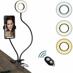 20% off Selfie Ring Light+Bluetooth Remote+Adjustable Phone Holder $18.96 + Delivery ($0 w/Prime / $39+) @ Simpeak via Amazon AU