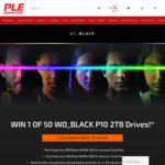 Win 1 of 50 WD_BLACK P10 2TB Portable Hard Drives worth $129 from PLE
