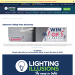 Win 1 of 3 White Airborne Breeze Silent AC Ceiling Fans (Worth $249.50) from Lighting Illusions