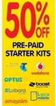 50% off- Prepaid Starter Kits @ Dick Smith from 3 Sept 2013