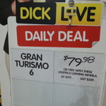 Gran Tourismo 6 Free with Logitech GT $179 & G27 $359 [DSE - Bourke St Melb CBD]
