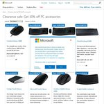 Microsoft PC Acessories 50% off and Free Post