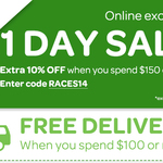 Woolies Online Exclusive 1 Day Offer - Extra 10% Off When Spend $150+ & Free Delivery (VIC Only)