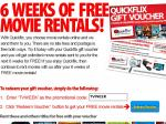 6 Weeks of Free Movie Rentals from Quickflix