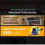 US$20 off $100 spend, US$10 off US$50  - @ en.JD.com