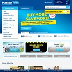 10% off Sitewide @ Masters for Click Frenzy (6pm 17/11)