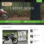 Win a Honda Motorcycle Worth up to $15,999 from Swann