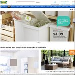 FILUR Bin with Lid (White 28L) for $4.99 (Presently, $14.99) @ IKEA