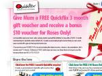 Quickflix - 3 months FREE voucher valued @ $44.85