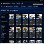 Ubisoft's 30th Anniversary Sale on PSN - Up to 60% off