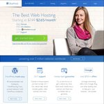 Bluehost >60% off Sale - US $2.65 (~AU $3.60) to US $4.65 (~AU $6.30) Per Month US Shared Hosting + Domain