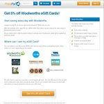 5% off WISH eGift Cards @ PricePal
