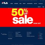 FILA - Extra 20% off on Top of Minimum 50% off Free Shipping