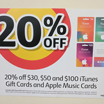 20% off Apple Music Gift Cards at Coles (~ $7.93/Month When Purchasing 12 Month Sub)