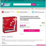 Colgate Pro Clinical A1500 Rechargeable Sonic Electric Toothbrush $49.99 @ Your Discount Chemist