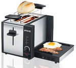 PRONTI 3-in-1 Toaster Griddle Hot Plate Electric 2 Slices Grill RCM Approved $59 @Klika-Living on eBay