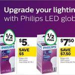 ½ Price Philips LED BC Globes | 470 Lumen $3.50 | 806 Lumen $5.00 | 1400 Lumen $7.50 | @ Woolworths (12/4)