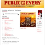 Free New Public Enemy Album 'Nothing Is Quick In The Desert' (Email Address Required)