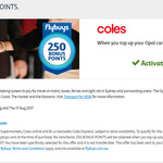 Collect 250 FlyBuys Bonus Points When You Top Up Opal Card at Coles, Min $10 Top Up