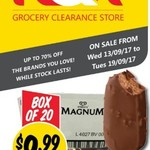Streets Magnum Ice Creams Toffee or Espresso 20pk $9.99 @ NQR VIC ($0.69 Each)