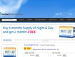 Free 2 Months Supply of Night & Day Contact lenses for Every 6 Months Supply Ordered ($164)