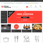Free Shipping @ Kitchen Warehouse - No Minimum Spend - Items from $0.60