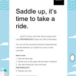 $15 off Your Next Uber Ride [New and Existing Users]