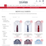 T.M.Lewin 4 Shirts for $140, Get an Extra 10% off with Coupon ($126 / $31.50 Per shirt)