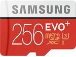 Samsung 256GB EVO+ U3 95MB/s Micro SD Card $127.20 @ Futu Online | EVO Plus 100MB/s $129.60 Shipped @ PC Byte eBay