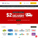 $2 Standard Delivery Australia Wide for 5 Days at ABC Shop
