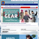 Snow Clothing and Gear Sale from 19/5 @ ALDI