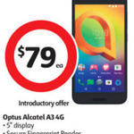 Optus Alcatel A3 @ Coles for $79