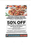 Domino's Pizza Wheelers Hill VIC: Customer Appreciation Week - 50% off Traditional Pizzas, Premium Pizzas and Selected Sides