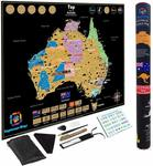 Australia Travel Scratch Poster Deluxe Adventure Travel 82x 60cm $13.75 + Delivery (Free with Prime) @ Kaleidoscope's Amazon AU