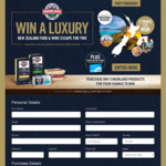 Win 1 of 3 Trips to New Zealand or 1 of 43 Instant Win $200 VISA Cards [Purchase 2x Mainland Products at IGA, FoodWorks etc]