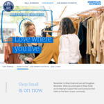 AmEx Shop Small - Spend $20 and Get $10 Statement Credits (up to 5 Times)