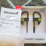 Beats by Dr. Dre Powerbeats 3 Wireless Earphones - Yellow $74 (RRP $259) @ Officeworks (in-Store Only)