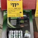 Energizer Recharge Maxi Charger + 4 AA 2000mAh Pack $11.25 (Was $23.95) @ Coles