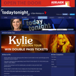 Win Tickets to The Kylie Minogue Concert in Adelaide [SA - Upload a Short Video of You Singing Your Favourite Kylie Song]